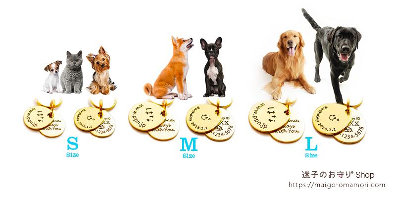 小型犬から大型犬まで全犬種に人気の迷子サポート付き迷子札。