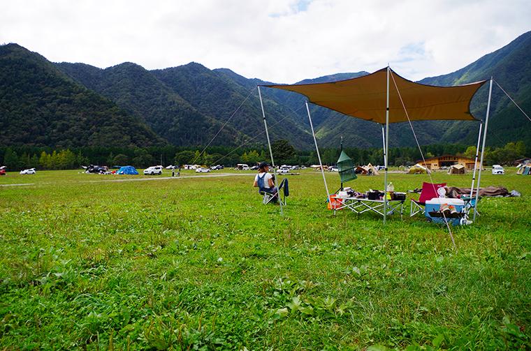 ふもとっぱらキャンプ場。タープを残してピクニックを楽しむ!