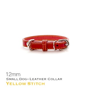 YellowStitch首輪 小型犬用 12mm